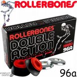 ROLLERBONES Double Action Skate Bushings Roller Derby 96a or 91a x8 Black Red